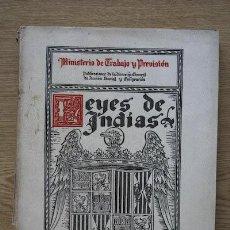 Libros antiguos: SELECCIÓN DE LAS LEYES DE INDIAS REFERENTES A DESCUBRIMIENTOS, COLONIZACIÓN, PACIFICACIONES,.... Lote 16196491