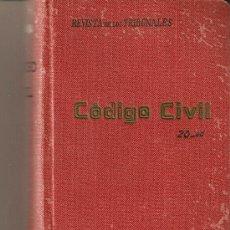 Libros antiguos: CODIGO CIVIL.GONGORA. Lote 17818036