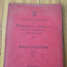 Libros antiguos: CÁMARA OFICIAL DE LA PROPIEDAD URBANA DE LA PROVINCIA DE VIZCAYA 1935. Lote 17030541