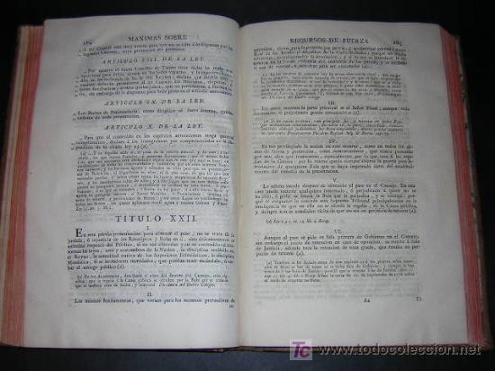 Libros antiguos: 1788 - JOSEPH DE COVARRUBIAS - MAXIMAS SOBRE RECURSOS DE FUERZA Y PROTECCION - Foto 5 - 26484208