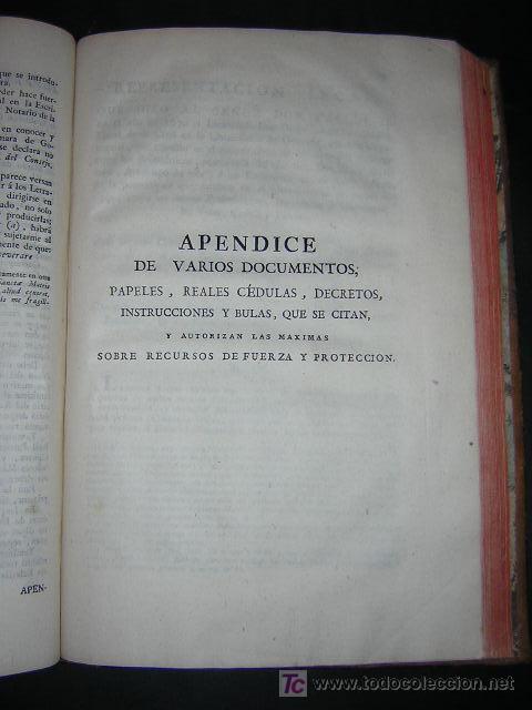 Libros antiguos: 1788 - JOSEPH DE COVARRUBIAS - MAXIMAS SOBRE RECURSOS DE FUERZA Y PROTECCION - Foto 6 - 26484208