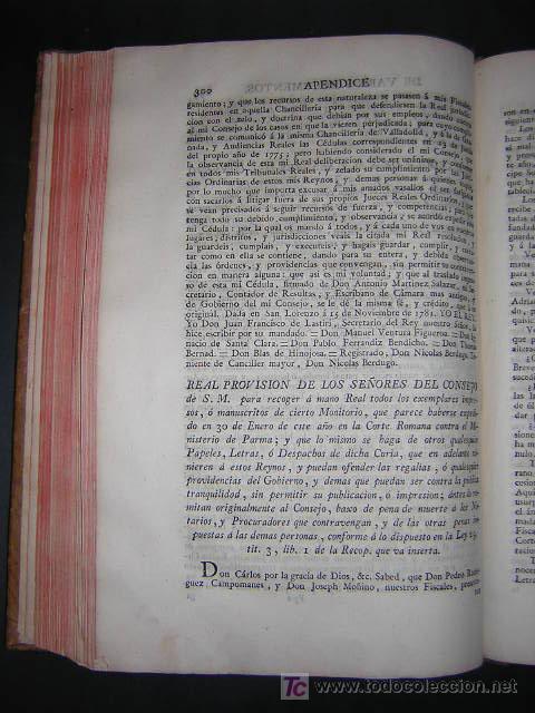 Libros antiguos: 1788 - JOSEPH DE COVARRUBIAS - MAXIMAS SOBRE RECURSOS DE FUERZA Y PROTECCION - Foto 7 - 26484208