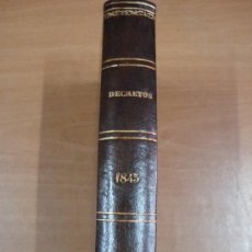 Libros antiguos: COLECCIÓN DE LAS LEYES, REALES DECRETOS, ÓRDENES, REGLAMENTOS... TOMO XIII. 1845. Lote 21840012