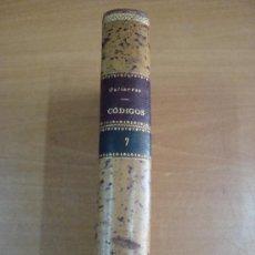 Libros antiguos: CÓDIGOS O ESTUDIOS FUNDAMENTALES SOBRE EL DERECHO CIVIL ESPAÑOL.BENITO GUTIÉRREZ. MADRID 1878.. Lote 21549174