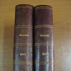 Libros antiguos: BOLETÍN DE LA REVISTA GENERAL DE LEGISLACIÓN Y JURISPRUDENCIA. 2 TOMOS. 1868. Lote 23106400