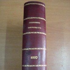 Libros antiguos: JURISPRUDENCIA ADMINISTRATIVA O COLECCIÓN COMPLETA DE LAS RESOLUCIONES DEL TRIBUNAL .... 1895. Lote 19115579