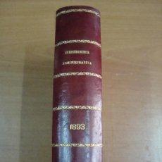 Libros antiguos: JURISPRUDENCIA ADMINISTRATIVA O COLECCIÓN COMPLETA DE LAS RESOLUCIONES DEL TRIBUNAL .... 1896. Lote 19115759