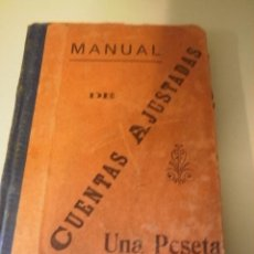 Libros antiguos: MANUAL DE CUENTAS AJUSTADAS. Lote 21910792