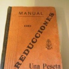 Libros antiguos: MANUAL DE REDUCCIONES. Lote 21910793