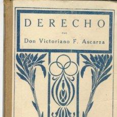 Libros antiguos: DERECHO. RUDIMENTOS DE DERECHO POR DON VICTORIANO F. ASCARZA. Lote 27456641