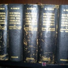 Libros antiguos: DOCTRINA PROCESAL CIVIL TRIBUNAL SUPREMO ABRIL 1881 A DICIEMBRE 1953 MIGUEL FENECH AGUILAR RM27140-V. Lote 27225638