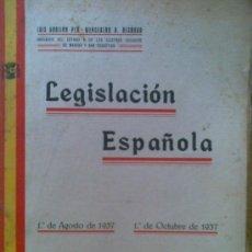 Libros antiguos: LIBRO LEGISLACION ESPAÑOLA AÑO 1937 GUERRA .160 PAGINAS.GUERRA CIVIL,INTERESANTE. Lote 23024141