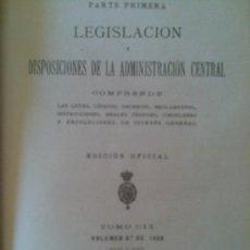 Libros antiguos: LIBRO AÑO 1928 COLECCION LEGISLATIVA LEGISLACION ESPAÑOLA 1928.LEYES,CODIGOS,DECRETOS...985 PAGINAS. Lote 27027474