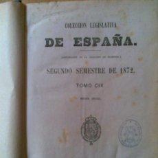 Libros antiguos: GRAN LIBRO COLECCION LEGISLATIVA AÑO 1872,,UNAS 1300 PAGINAS.GUERRA,MARINA..... Lote 21278362