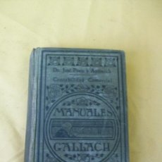 Libros antiguos: CONTABILIDAD COMERCIAL - JOSE PRATS Y AYMERICH - MANUALES GALLACH. Lote 21424028