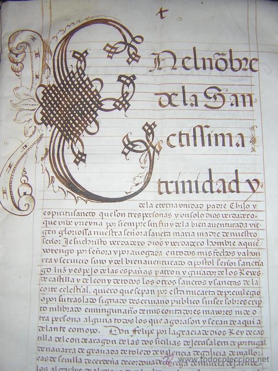 Libros antiguos: 1594 - MANUSCRITO EN PERGAMINO - FELIPE II, PRIVILEGIOS REALES, SEVILLA, COMERCIO INDIAS - Foto 3 - 27456962