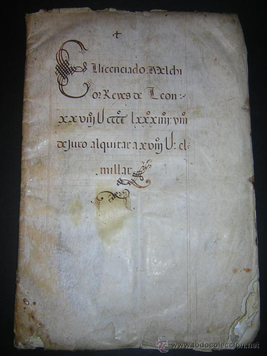 Libros antiguos: 1594 - MANUSCRITO EN PERGAMINO - FELIPE II, PRIVILEGIOS REALES, SEVILLA, COMERCIO INDIAS - Foto 2 - 27456962