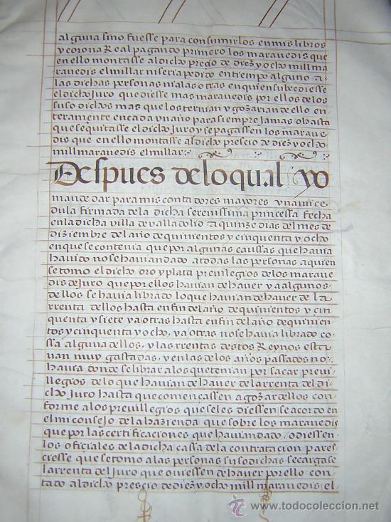 Libros antiguos: 1594 - MANUSCRITO EN PERGAMINO - FELIPE II, PRIVILEGIOS REALES, SEVILLA, COMERCIO INDIAS - Foto 5 - 27456962