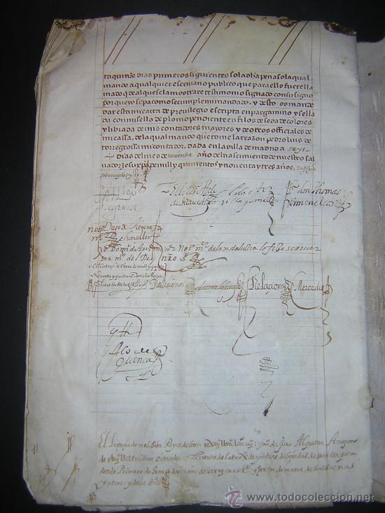Libros antiguos: 1594 - MANUSCRITO EN PERGAMINO - FELIPE II, PRIVILEGIOS REALES, SEVILLA, COMERCIO INDIAS - Foto 8 - 27456962