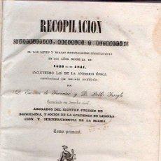 Libros antiguos: RECOPILACION ESTRACTADA, ORDEANDA Y METODICA DE LAS LEYES Y REALES DISPOSICIONES PROMULGADAS. Lote 26321149