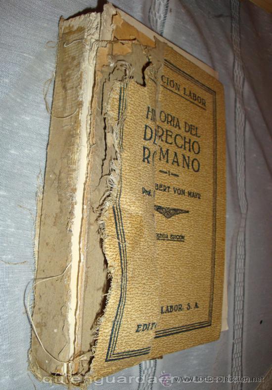 Historia del derecho romano robert von mayr lab comprar - Libros antiguos valor ...