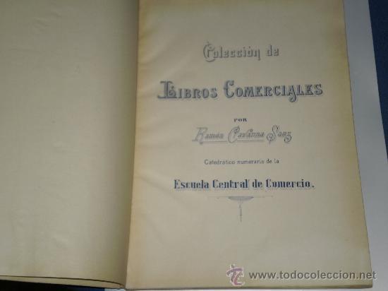 Libros antiguos: AUXILIARES OBLIGATORIOS DE COLECCION DE LIBROS COMERCIALES , CURSO ACADÉMICO 1916 A 1917 . - Foto 2 - 27320551