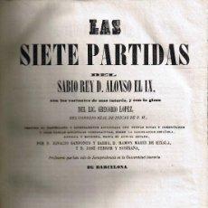 Libros antiguos: LAS SIETE PARTIDAS . ALFONSO X EL SABIO - PARTIDA VII - TOMO IV - 1843 - BARCELONA - . Lote 27793019