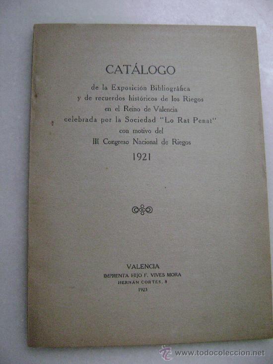CATALOGO III CONGRESO NACIONAL DE RIEGOS..1921.114 (Libros Antiguos, Raros y Curiosos - Ciencias, Manuales y Oficios - Derecho, Economía y Comercio)