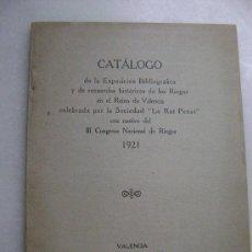 Libros antiguos: CATALOGO III CONGRESO NACIONAL DE RIEGOS..1921.114. Lote 28149908