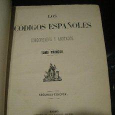 Libros antiguos: LOS CODIGOS ESPAÑOLES CONCORDADOS Y ANOTADOS. 12 TOMOS. 2ª ED. 1872. MADRID.. Lote 28227219