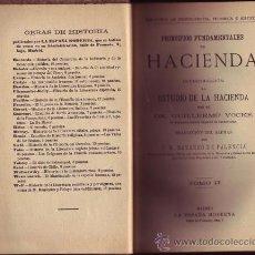 Libros antiguos: PRINCIPIOS FUNDAMENTALES DE HACIENDA. INTRODUCCIÓN AL ESTUDIO DE LA HACIENDA. GUILLERMO VOCKE.. Lote 28265872