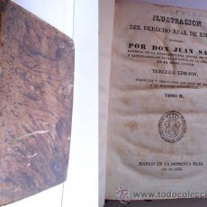 Libros antiguos: ILUSTRACIÓN DEL DERECHO REAL DE ESPAÑA (TOMO II). SALA, JUAN. 1832. Lote 28437115