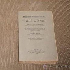 Libros antiguos: DERECHO MERCANTIL. LORENZO BENITO Y ENDARA. MADRID 1932. 396 PP. Lote 28535760