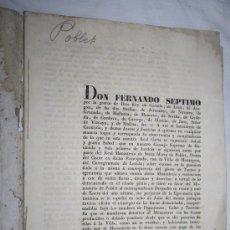 Libros antiguos: 1982- REAL CARTA ESCRITA POR LLOBET Y VAIXERAS NOTARIO DE BARCELONA DIRIGIDA A DON FERNANDO VII 1832. Lote 28686244