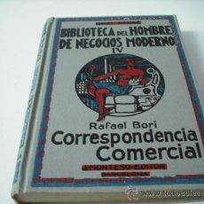 Libros antiguos: BIBLIOTECA DEL HOMBRE MODERNO Y DE NEGOCIOS - CORRESPONDENCIA COMERCIAL. Lote 28810038