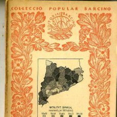 Libros antiguos: J. M. CARDONA : RESUM D'ESTADÍSTICA (1935) - COL. BARCINO. EN CATALÁN. Lote 29184554