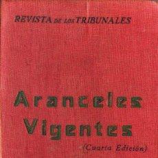 Libros antiguos - Aranceles vigentes - 29218580