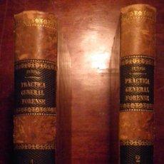 Libros antiguos: PRACTICA GENERAL FORENSE MANUEL ORTIZ DE ZUÑIGA 1874 . 2 TOMOS .REF.JL3.222. Lote 29345908