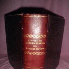 Libros antiguos: APUNTES DE HISTORIA GENERAL DEL DERECHO ESPAÑOL - LIBRO MANUSCRITO - SEVILLA AÑO 1893-94.. Lote 29541856