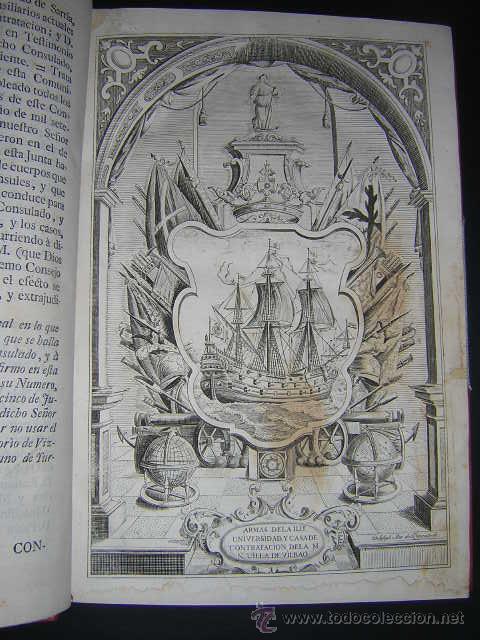 Libros antiguos: 1769 - ORDENANZAS DE LA ILUSTRE UNIVERSIDAD Y CASA DE CONTRATACION DE LA VILLA DE BILBAO - Foto 3 - 29599713