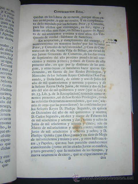 Libros antiguos: 1769 - ORDENANZAS DE LA ILUSTRE UNIVERSIDAD Y CASA DE CONTRATACION DE LA VILLA DE BILBAO - Foto 5 - 29599713