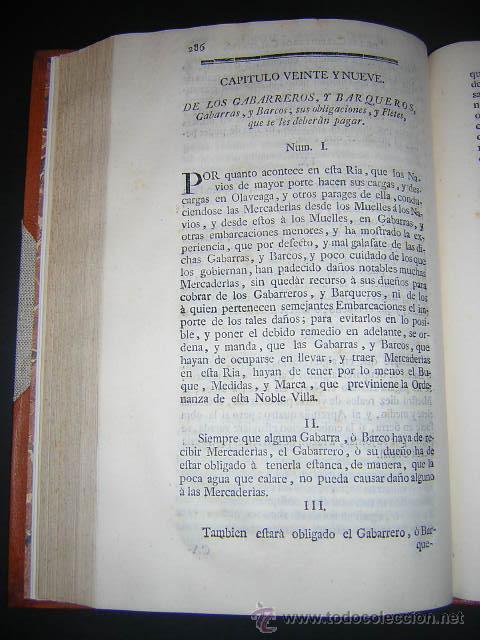 Libros antiguos: 1769 - ORDENANZAS DE LA ILUSTRE UNIVERSIDAD Y CASA DE CONTRATACION DE LA VILLA DE BILBAO - Foto 8 - 29599713