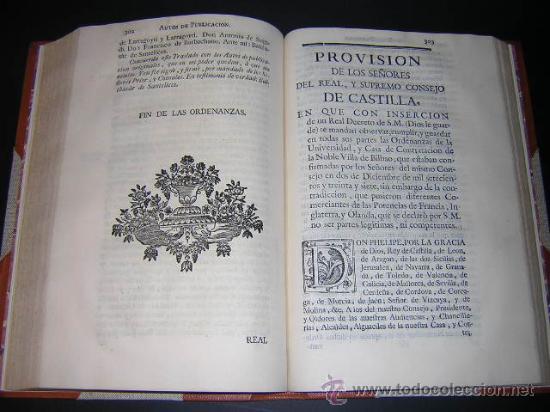 Libros antiguos: 1769 - ORDENANZAS DE LA ILUSTRE UNIVERSIDAD Y CASA DE CONTRATACION DE LA VILLA DE BILBAO - Foto 9 - 29599713