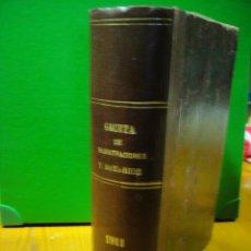 Libros antiguos: GACETA DE REGISTRADORES Y NOTARIOS 1º SEMESTRE DE 1911. Lote 29738256