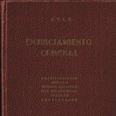 Libros antiguos: ENJUICIAMIENTO CRIMINAL - M.GRANADOS - G.PECES-BARBA - EDITORIAL LEX - 1934 - TAPA DURA - 432 PÁGS.. Lote 29976055