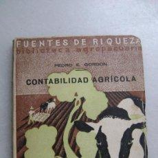 Libros antiguos: CONTABILIDAD AGRICOLA.624. Lote 30183074
