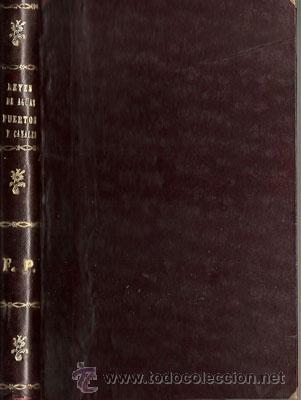 LEYES DE AGUAS, PUERTOS Y CANALES – AÑO 1893 (Libros Antiguos, Raros y Curiosos - Ciencias, Manuales y Oficios - Derecho, Economía y Comercio)