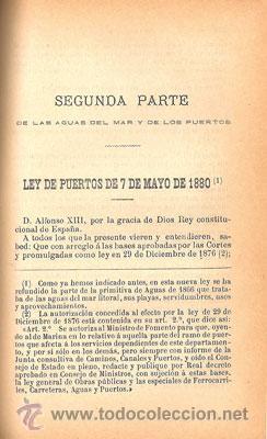 Libros antiguos: LEYES DE AGUAS, PUERTOS Y CANALES – Año 1893 - Foto 3 - 30346212