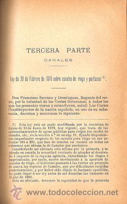 Libros antiguos: LEYES DE AGUAS, PUERTOS Y CANALES – Año 1893 - Foto 4 - 30346212