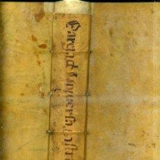 Libros antiguos: PAREJA Y QUESADA : DE UNIVERSA INSTRUMENTORUM - TOMUS SECUNDUS - MADRID, MDCXLIX - EN PERGAMINO. Lote 30359193